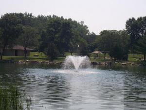 Mill Pond with fountain
