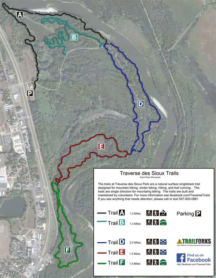 Traverse des Sioux Park map
