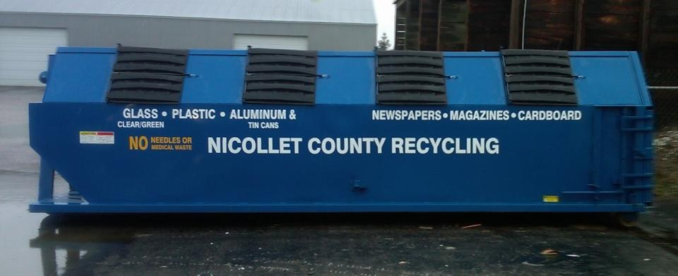 Nicollet County  Bulk Recycling Container